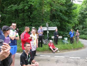 Villagers await cyclists